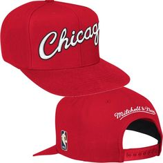 70beffa6a54 Chicago Bulls Wool Solid Snapback Hat by Mitchell   Ness