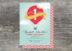 Hot Air Balloon Birthday Party Invitation, Up Up and Away (15)