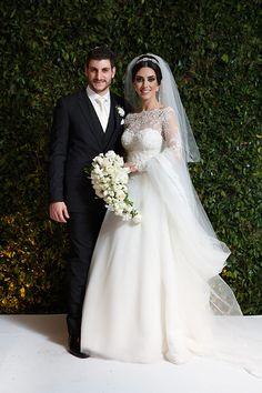 Casamento judaico seguido de festa bem animada! Luciane e Thomer trocaram alianças no tradicional Buffet França, em São Paulo. O casal se conheceu quando L