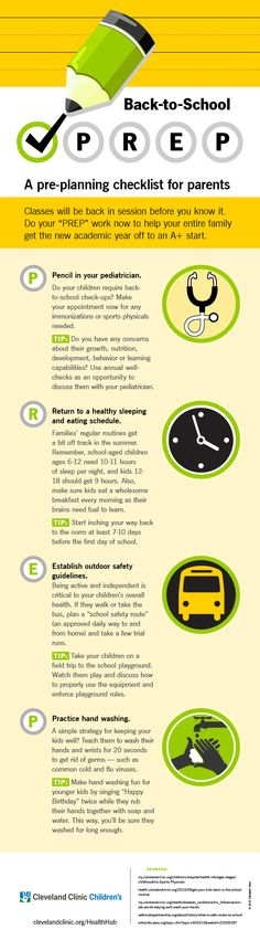 A #backtoschool checklist every parent needs to have. #infographic #parenting