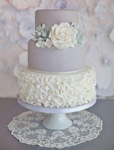Glorious Gray Wedding Cakes for 2015 - Mon Cheri Bridals #weddingcakes