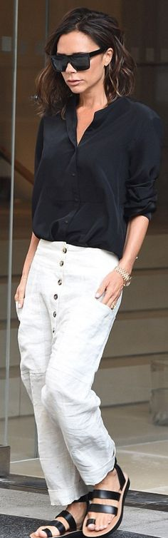 Victoria Beckham wearing Celine and Victoria Beckham