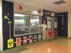 Mad science - story laboratory library entrance.