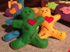 Catnip Brave Little Men Handmade Felt Cat Toy with handstitched detail by Nerdacious on Etsy