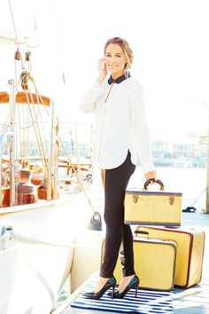 Set sail in a polka dot blouse that's just as flowy as the sea. #LCLaurenConrad