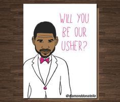 Funny Wedding Usher Best Man Card Pop Culture by diamonddonatello #invites #bestman #Usher