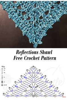 Most up-to-date Images Crochet shawl diagram Strategies Reflections Shawl Mommy & Me Free Crochet Pattern — Stitch & Hustle Crochet Shawl Diagram, Crochet Shawl Free, Crochet Shawls And Wraps, Crochet Chart, Crochet Scarves, Crochet Stitches, Knit Crochet, Shawl Patterns, Crochet Patterns