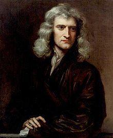 Isaac Newton. protrait