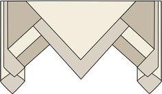 Folded Layered Pelmet Val