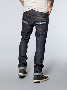 Nudie Jeans. This is how men should wear their jeans - not high and not too low. Perfecto!
