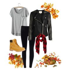 #1 fall outfit by l0gan-madis0nn on Polyvore featuring LULUS, Timberland and…