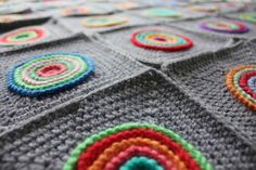 Gorgeous crochet motif blanket. I love the colors!