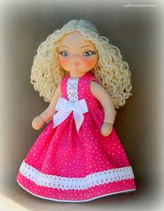 Pose-able fabric doll 7 inch sold