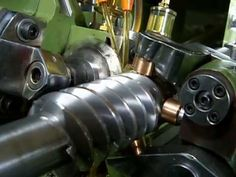 Worm / Screw high precision automatic thread rolling cutting machine - YouTube