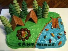 Cub Scouts...graham cracker tents, pretzel raft, ice cream cone trees, etc.