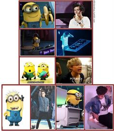 @Harry Styles  minions aka lil one direction haha