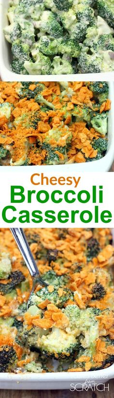 This easy, cheesy Broccoli Casserole makes the best easy side dish! One of my family's favorite recipes!
