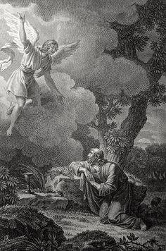Luke in the Phillip Medhurst Collection 483 Christ's agony in Gethsemane Luke 22:42-43 Monsiau on Flickr. A print from the Phillip Medhurst Collection of Bible illustrations, published by Revd. Philip De Vere at St. George's Court, Kidderminster.