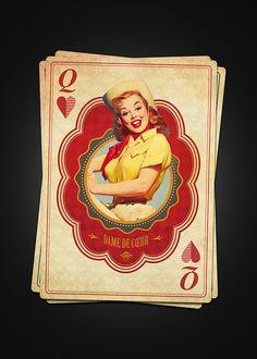 Jeux de Cartes (Playing Cards) by Moustafa Khamis, via Behance