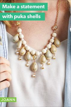 Bring on the beach! This puka shell necklace is a perfect symbol of summer fun, and it's easy to make!