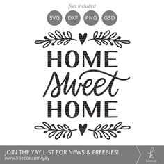 Home Sweet Home SVG #svgfiles #cutfiles #cricut #silhouettecameo