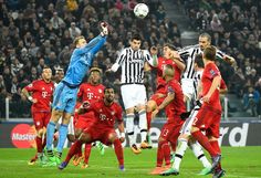 Bayern Munich's German goalkeeper Manuel Neuer blocks a shot on goal by Juventus' Spanish forward Alvaro Morata during the UEFA Champions League round of 16 first leg football match between Juventus and Bayern Munich at the Juventus Stadium in Turin on February 23, 2016.