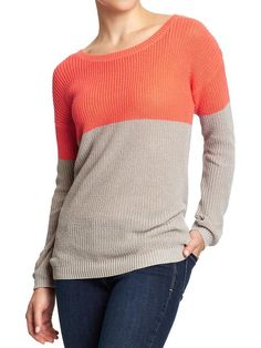 Old Navy | Women's Color-Block Sweaters