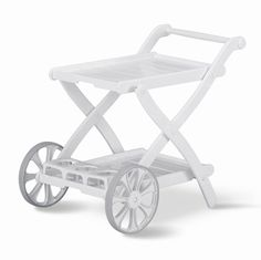 Kettler - Folding Tea Cart in White