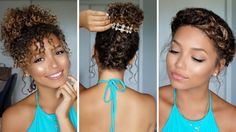 30 Inspired Photo of Best Hairstyle For Medium Curly Hair, Trust me, there's absolutely no perfect hair type. You will always return to hair . Straight hair is completely distinct from a curled hair from its o. Hairstyles With Curled Hair, Super Easy Hairstyles, Haircuts For Curly Hair, Summer Hairstyles, Up Hairstyles, Hairstyle Ideas, Summer Haircuts, Amazing Hairstyles, Hair Ideas