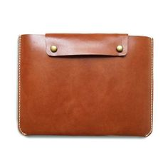Personalized Leather iPad2 / iPad Case with Pocket by Harmony