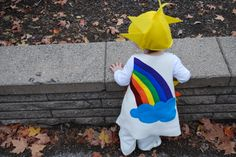Sunshine and Rainbow Halloween free DIY costume pattern and tutorial for babies, toddlers and kids craft project for Merriment Design by Kathy Beymer