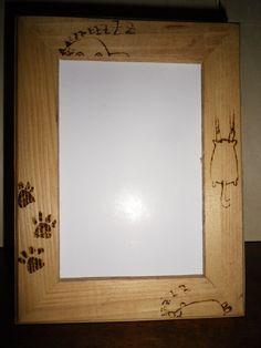 Cornice in legno con gatti, by Atelier La Rosa Blu, 10,00 € su misshobby.com