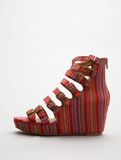 Jeffrey Campbell All Caps Red Aztec