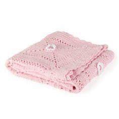 Kids Crochet Flower Blanket