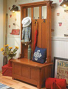 Entry bench. DIY plans from plansnow.com