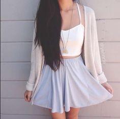 Summer outfit #skirt