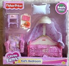 Fisher Price Loving Family Dollhouse Kids Bedroom RETIRED