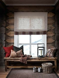 Self Architecture / cozy cabin charm Chalet Interior, Home Interior, Interior Design, Cottage Interiors, Rustic Interiors, Cabin Homes, Log Homes, Cabins And Cottages, Cozy Cabin