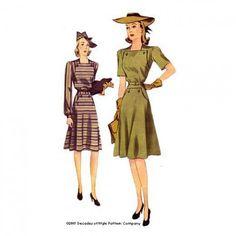 Schnittmuster: 4007 - 1940s New England Dress