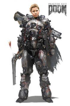 ArtStation - [female] Praetor Suit, Josh Norman
