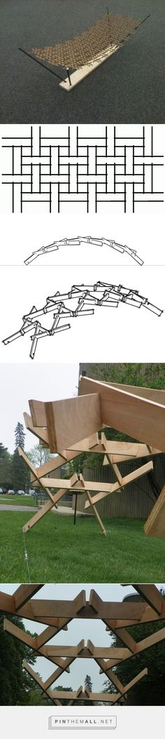 Reciprocal Frame Structure on Behance - created via http://pinthemall.net