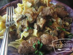 World Famous Beef Stroganoff - Once a Month Meals