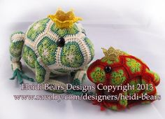 (4) Name: 'Crocheting : Tomato the Frog Prince African Flower Cr