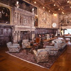 Gather in the grand social room on the ground floor of Casa Grande just as W. R. Hearst's guests did decades ago for cocktails, conversation, and a chance to meet their host. Stand amid the massive room's walnut paneling and vivid tapestries—dating back to the 16th century—which contrast with the jigsaw puzzles, poker table, and overstuffed chairs.