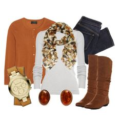 """Amber Accents"" by qtpiekelso on Polyvore"