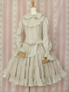 Cotton Frill Doll Dress