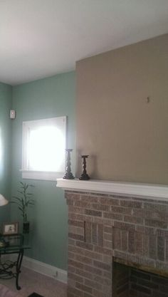 Sherwin williams hazel (blue) sherwin williams fawn brindle (tan) .... White trim turned out beautifully