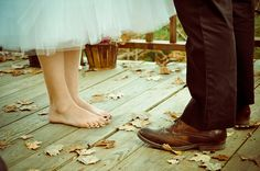 This (or wearing rainbows) is a mandatory wedding picture for me, as I only know how to wear rainbows or go barefoot! :)