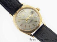 Collectors Dream 1962 1807 Rolex President 18k Gold Bark Bezel Mens Watch