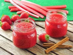 Home-made Strawberry & Rhubarb Jam (low-carb, paleo, <1 gram net carbs per tablespoon). Learn how to use chia seeds to make your own sugar and pectin free jams! (scheduled via http://www.tailwindapp.com?utm_source=pinterest&utm_medium=twpin&utm_content=post65154586&utm_campaign=scheduler_attribution)